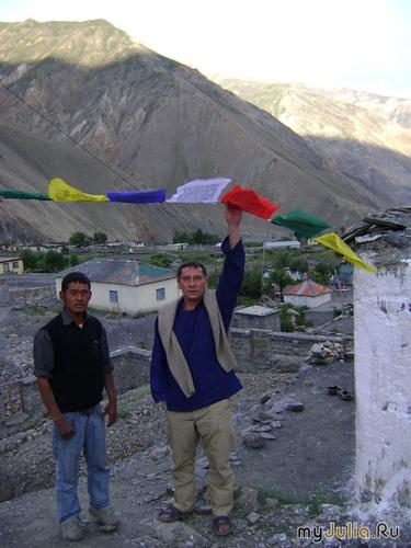 Лунгта(священные флаги) на границе