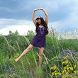 Танцевать на поляне так здорово!!!