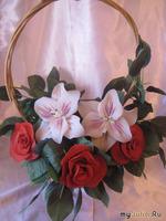 Букет цветов из капрона