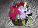 Мини-корзиночка с мини-цветочками.