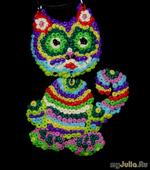 Радужный кот. Мастер-класс лепки украшений из полимерной глины