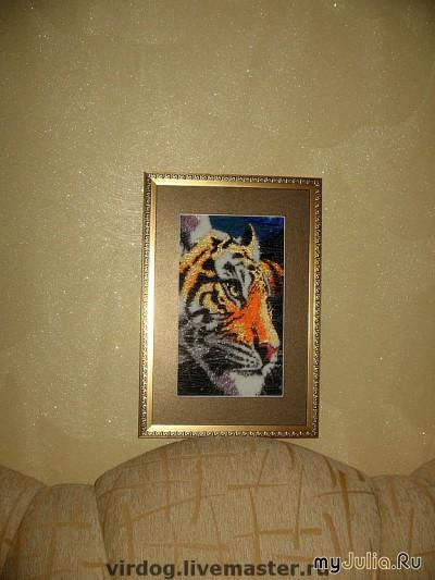цены вышивка бисером тигр.