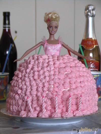 Рецепт приготовления торта в виде барби с фото