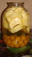 Компот из кабачков и алычи. Кабачки будут со вкусом ананасов!