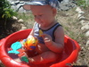 Мой первый бассейн, маленький, зато все под рукой! (мой сынок Никита)