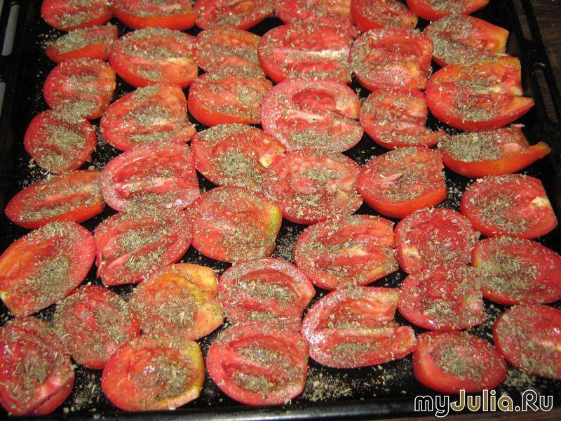 Вяленые помидоры в духовке рецепт с пошагово