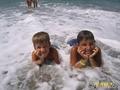 Чудо из пены морской( мои внуки Даниил и Игорь)