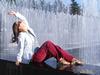 Подружка наслаждается прохладой июнь 2010, Фонтаны на Московском пр.