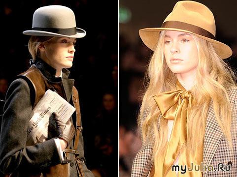 Модные головные уборы осень зима 2010