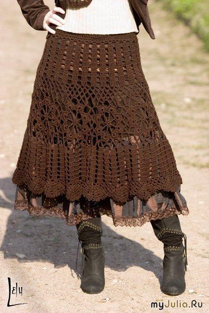 Вязаные юбки (модели с описанием