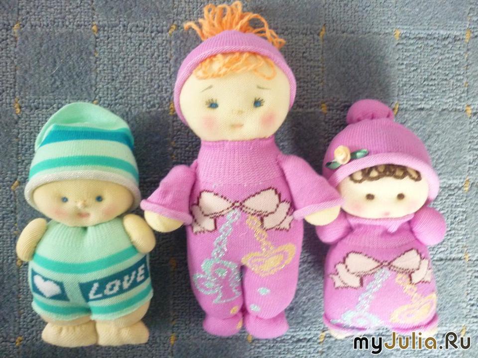 Кукла из носок своими руками фото