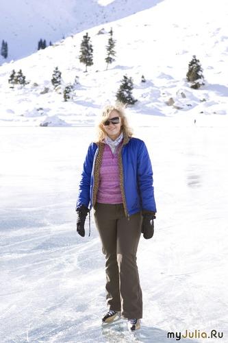 Катание на горном озере.