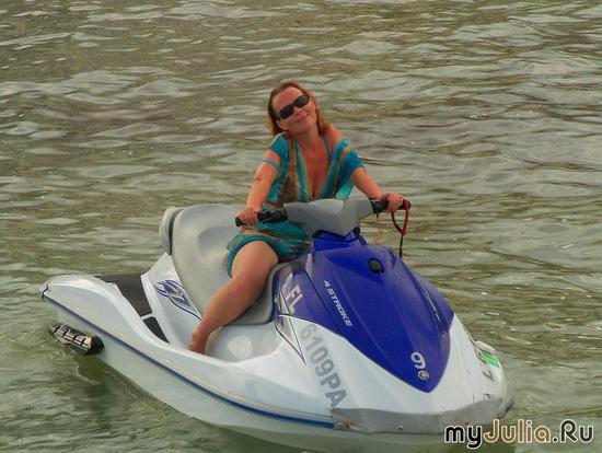 Любительница Jet Ski