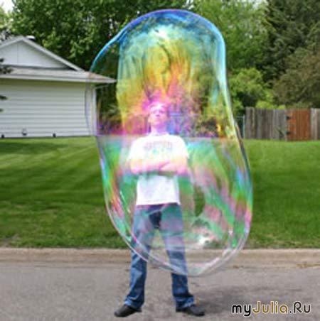 Самый большой мыльный пузырь
