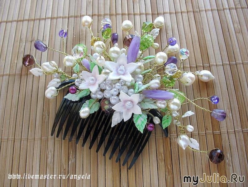 Гребешки своими руками из цветов 100