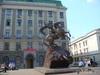 памятник Георгию Победоносцу посвященный погибшим  сотрудникам милиции