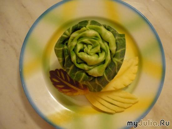 Роза из белокочанной капусты