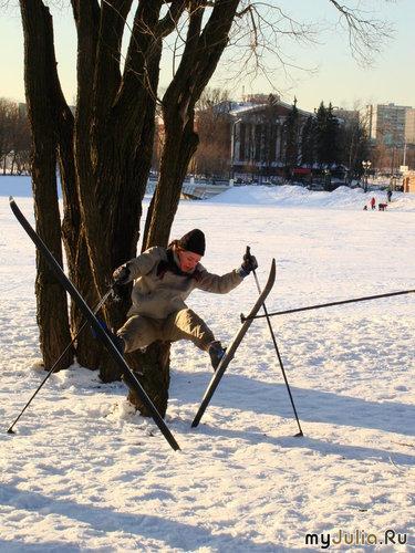 Вот так я катаюсь на лыжах