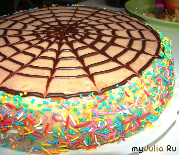 Как сделать паутинку для торта 184