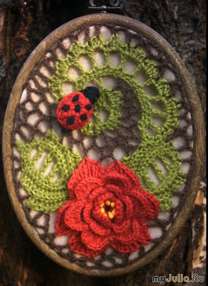 Вязание картин из цветов 829