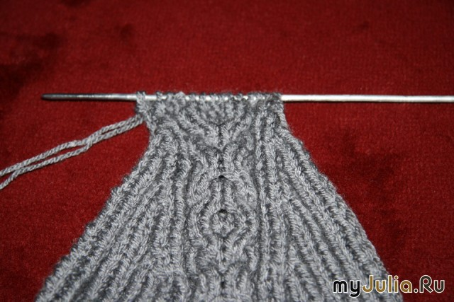 Вяжем носки на двух спицах мастер класс
