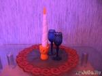 Свечка и подсвечник из моркови и дайкона