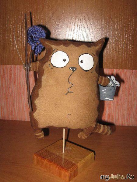 Кот - вязание игрушки крючком, описание.