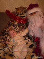 Дед Мороз и маленький Тигренок (я не в роли Тигренка)