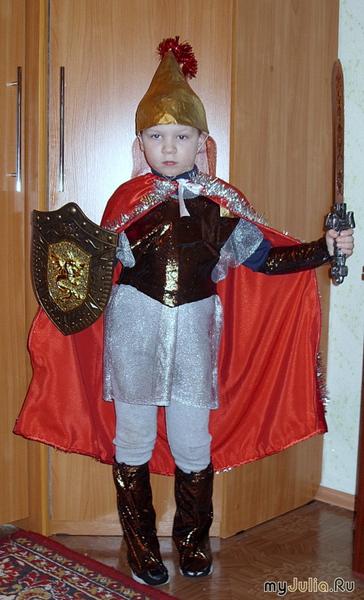 Новогодний костюм рыцаря своими руками фото