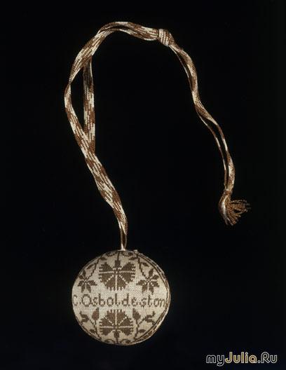 Кошелек (Великобритания, начало 19-го века), ручное вязание, шёлк.