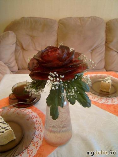 Роза в диаметре была 12 см