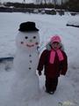 Румяные щечки у меня и моего Снеговика!