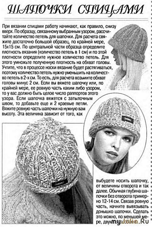 Как связать петли для шапки