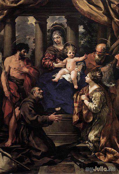 Вирджин и младенец со святыми