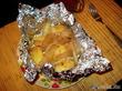 Картошка с салом в фольге.