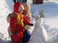 Настя, я и снеговик