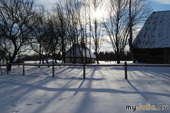 Заячьи следы (зима в деревне)