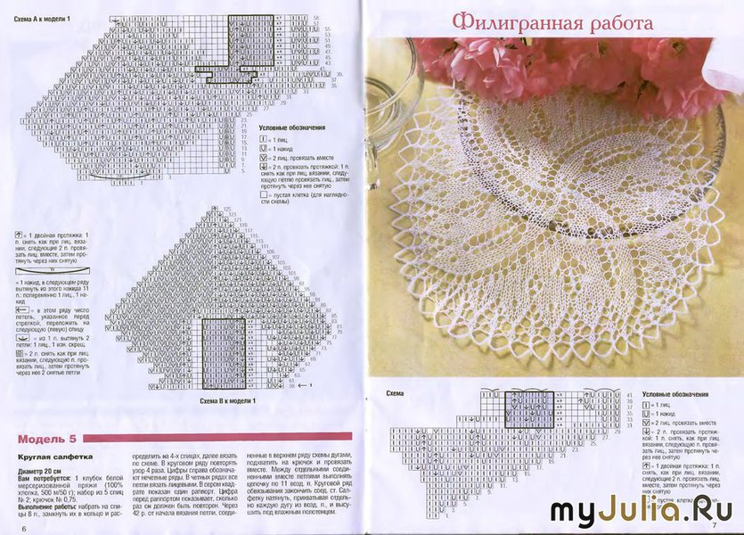 Салфетки вязание спицами 47