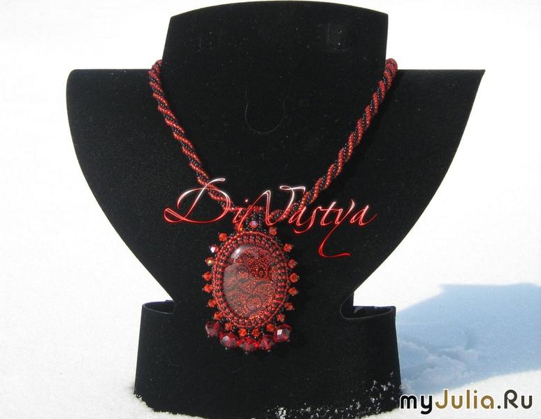 Калина красная из бисера от DiNastya.