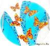 "Поднос ""Бабочки"" размер диаметр 30 см.  цена  2000 руб"