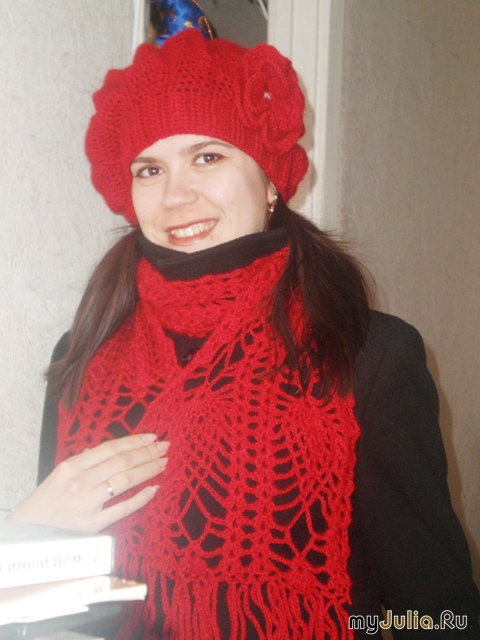 А вот схема шарфа: