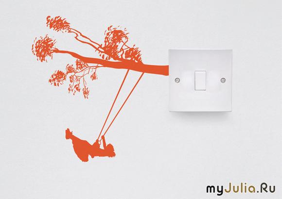 Дизайн выключателей и розеток своими руками