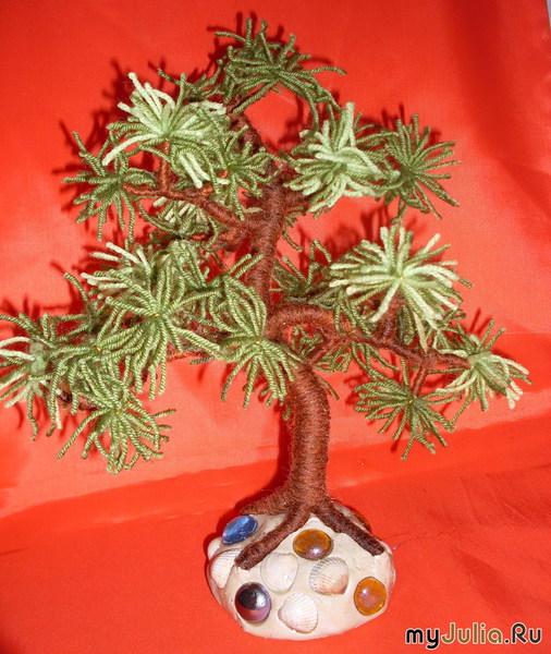 МК дерева из ниток (tree) / Цветы, деревья / В рукоделии