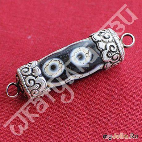 4-глазая Дзи в серебре