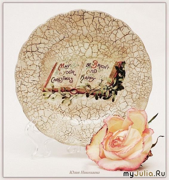Прямой декупаж тарелок мастер класс 67