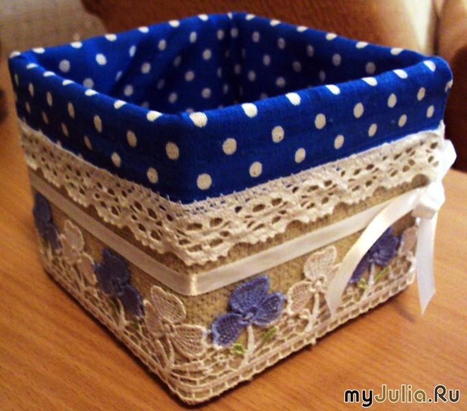 Коробка для рукоделия своими руками фото