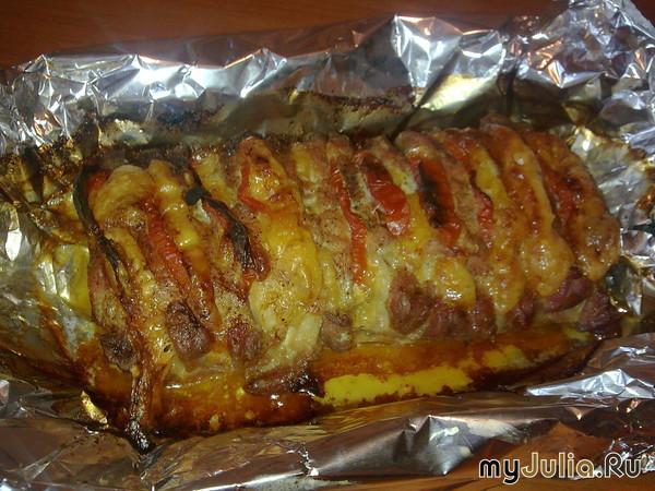 Шейка свинина в фольге в духовке рецепт