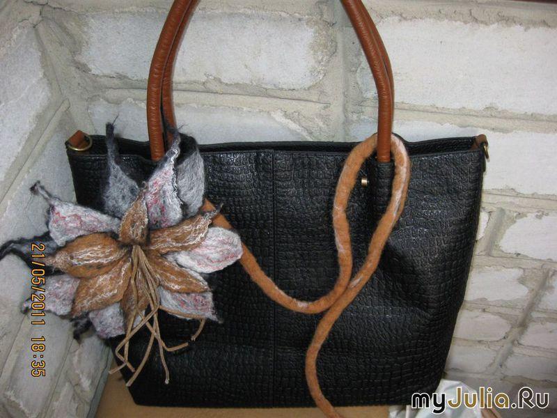 Декор кожаной сумки своими руками фото 16