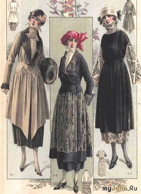 Женские платья 20 х годов
