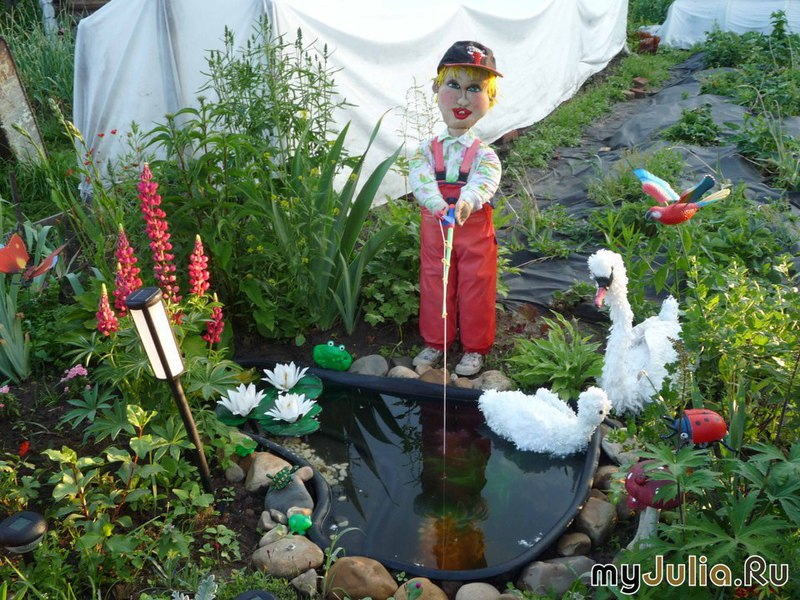 Мастер класс как украсить сад своими руками
